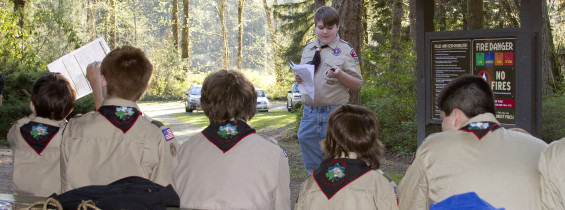 Webelos / New Scout Camp at Renton Lions Park, April 2-3