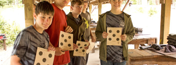 Camp Fife Shooting Merit Badges, July 16-22