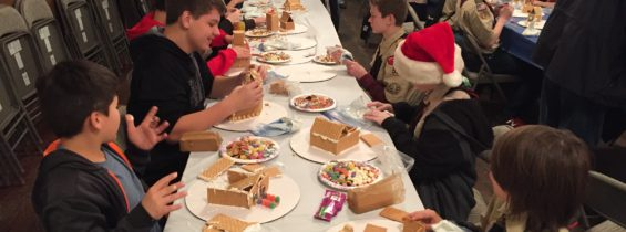 Build Gingerbread House at Scout Meeting, December 12