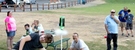 Water Bottle Rockets at Lake Wilderness, July 31