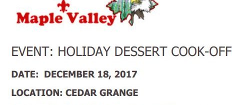 Dessert Cook-Off, Dec. 18th, 2017