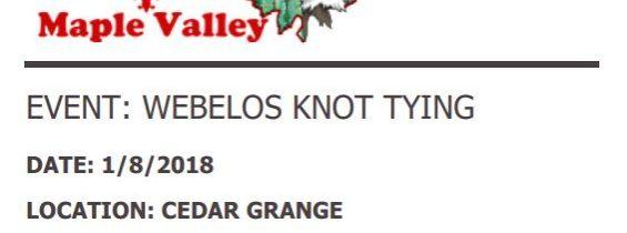 Webelos Knot Tying